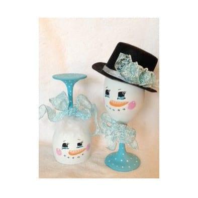 snowman glass